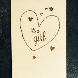 Houten kaart; It's a girl